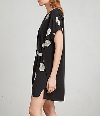 Womens Sonny Rodin Silk Dress (Black) - Image 4