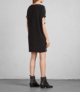 Womens Sonny Rodin Silk Dress (Black) - Image 6