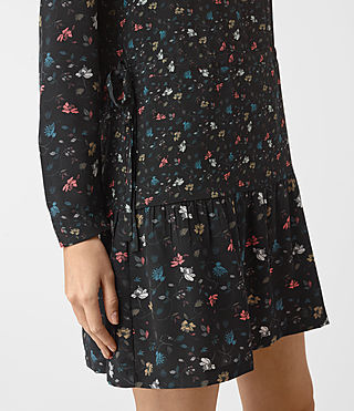 Damen Lin Rose Silk Dress (Black) - product_image_alt_text_2
