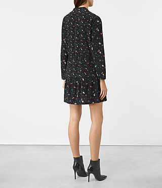Damen Lin Rose Silk Dress (Black) - product_image_alt_text_5