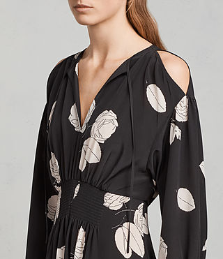 Women's Lavete Rodin Silk Dress (Black) - Image 2