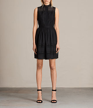 Womens Rowy Lace Dress (Black) - product_image_alt_text_1