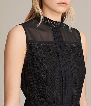 Women's Rowy Lace Dress (Black) - product_image_alt_text_2