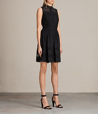 Women's Rowy Lace Dress (Black) - product_image_alt_text_3