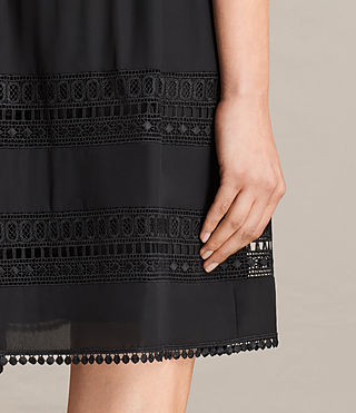 Women's Rowy Lace Dress (Black) - product_image_alt_text_4