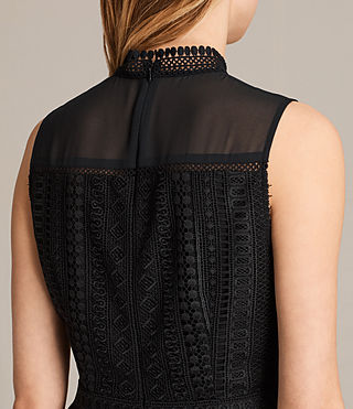 Women's Rowy Lace Dress (Black) - product_image_alt_text_5