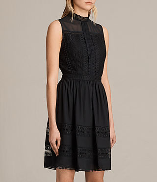 Women's Rowy Lace Dress (Black) - product_image_alt_text_6