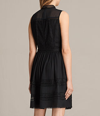 Women's Rowy Lace Dress (Black) - product_image_alt_text_7
