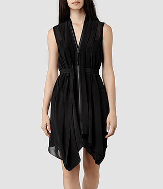 Womens Lewis Dress (Black) - product_image_alt_text_1