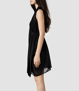 Womens Lewis Dress (Black) - product_image_alt_text_2
