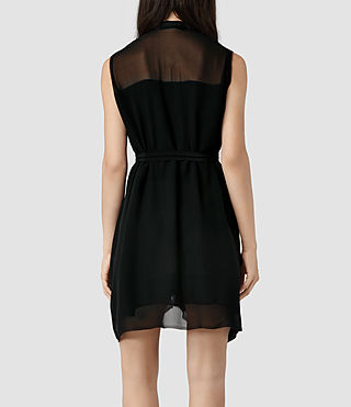 Womens Lewis Dress (Black) - product_image_alt_text_3
