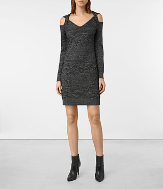 Womens Neri Twist Dress (Black) - product_image_alt_text_1