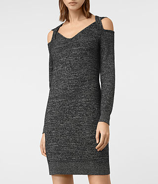 Women's Neri Twist Dress (Black) - product_image_alt_text_3