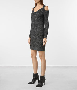 Women's Neri Twist Dress (Black) - product_image_alt_text_4