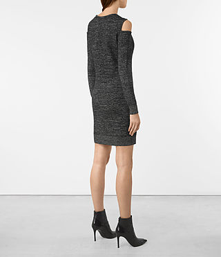 Women's Neri Twist Dress (Black) - product_image_alt_text_5