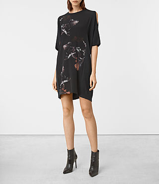 Damen Tulipa Knit Dress (Cinder Black Marl)
