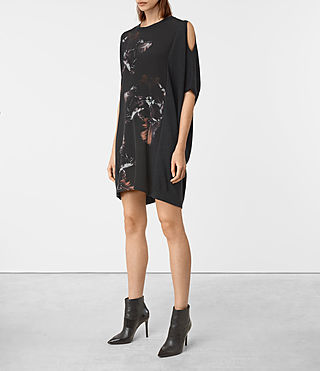 Femmes Tulipa Knit Dress (Cinder Black Marl) - product_image_alt_text_3