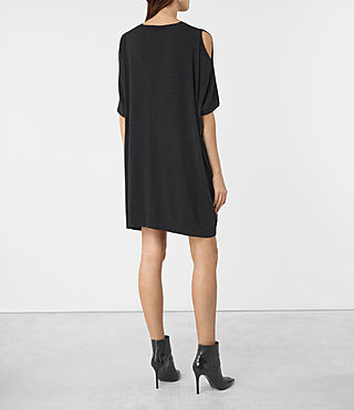 Femmes Tulipa Knit Dress (Cinder Black Marl) - product_image_alt_text_4