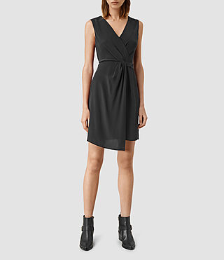 Femmes Peak Dress (Black)