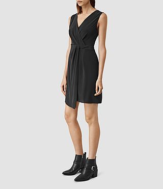 Womens Peak Dress (Black) - product_image_alt_text_2