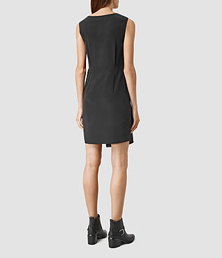 Womens Peak Dress (Black) - product_image_alt_text_3