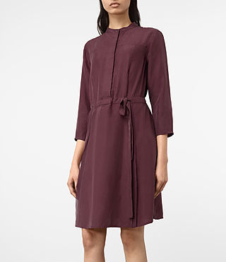 Mujer Volta Perry Dress (Damson Red) - product_image_alt_text_2