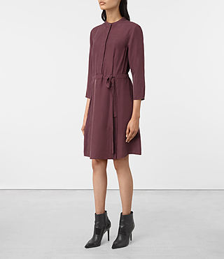 Mujer Volta Perry Dress (Damson Red) - product_image_alt_text_3