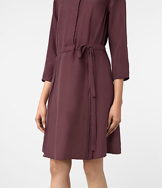 Mujer Volta Perry Dress (Damson Red) - product_image_alt_text_4