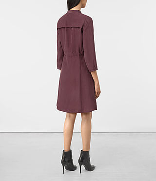 Mujer Volta Perry Dress (Damson Red) - product_image_alt_text_5