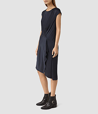 Womens Breeze Dress (Ink Blue) - product_image_alt_text_3