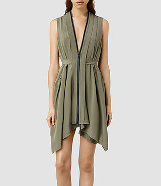 Womens Lewis Li Dress (Light Khaki)