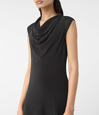 Mujer Malina Dress (Black) - product_image_alt_text_2