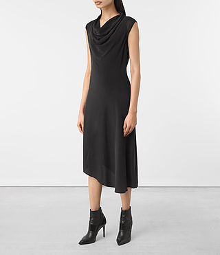 Mujer Malina Dress (Black) - product_image_alt_text_3