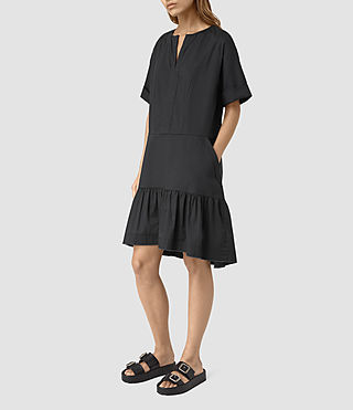 Damen Farah Dress (Black) - product_image_alt_text_4