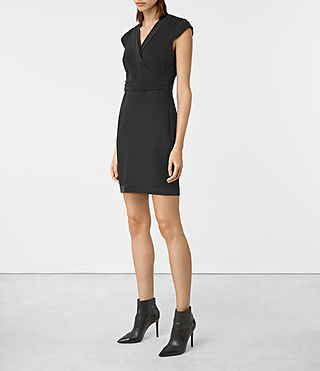 Women's Codia Dress (Black) - product_image_alt_text_3