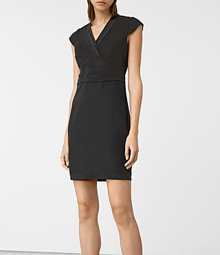 Women's Codia Dress (Black) - product_image_alt_text_4