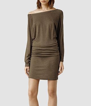 Womens Timi Dress (Chocolate)