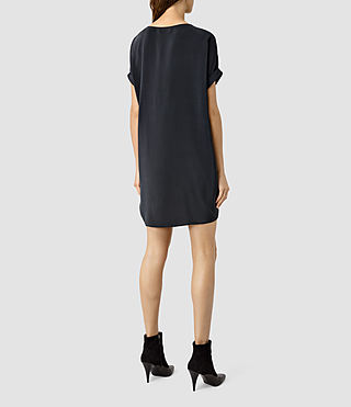 Damen Sonny Silk Dress (Ink Blue) - product_image_alt_text_3