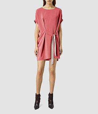 Women's Sonny Silk Dress (SORBET PINK)