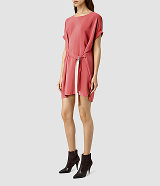 Women's Sonny Silk Dress (SORBET PINK) - product_image_alt_text_2