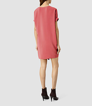 Women's Sonny Silk Dress (SORBET PINK) - product_image_alt_text_3