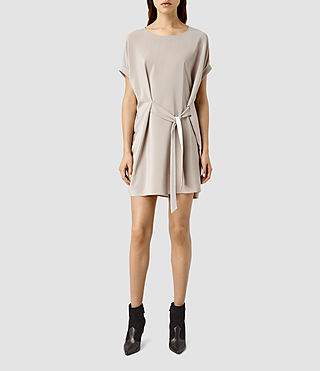 Women's Sonny Silk Dress (Taupe)