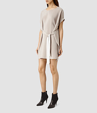 Womens Sonny Dress (Taupe) - product_image_alt_text_2