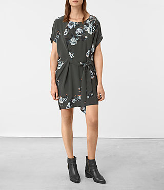 Damen Sonny Flora Dress (Green)