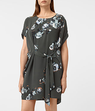 Damen Sonny Flora Dress (Green) - product_image_alt_text_2