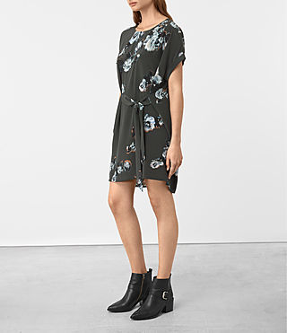 Damen Sonny Flora Dress (Green) - product_image_alt_text_3