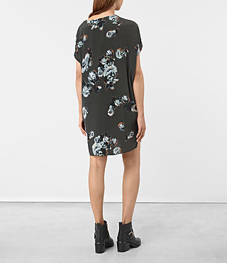 Damen Sonny Flora Dress (Green) - product_image_alt_text_4