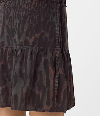 Womens Lin Sinai Silk Dress (Taupe) - product_image_alt_text_3