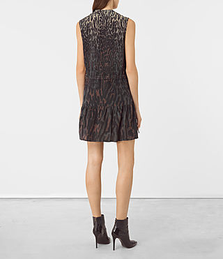 Womens Lin Sinai Silk Dress (Taupe) - product_image_alt_text_4