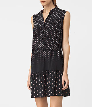 Womens Lin Flic Silk Dress (Black) - product_image_alt_text_2